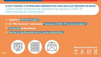 ¿Cómo realizar el proceso de validación de vacunas COVID-19 administradas en el extranjero?